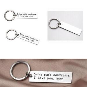 Drive-Safe-Handsome-I-Love-You-Trucker-Keyring-Keychain-Gift-For-Husband-Boys-JT