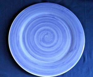 Hand-Painted-Caleca-SOLIDS-BRUSH-BLUE-13-034-Serving-Platter-Chop-Plate-Italy