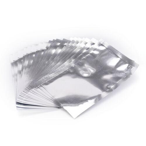 100X papier aluminium mylar sac de scellage sous vide pochette de rangement r