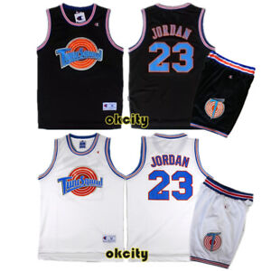 pretty nice 3227b 6e9a9 Details about Michael Jordan 23 Space Jam Tune Squad Movie Jersey Stitched  Adult Kid Youth Top