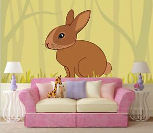 3D Wiese  Kaninchen 73 Tapete Wandgemälde Tapete Tapeten Bild Familie DE
