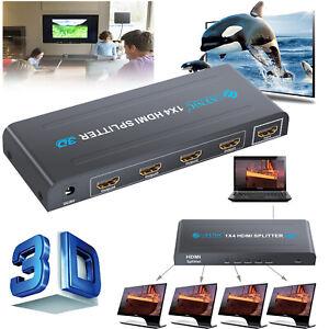 1080P-4-Way-HDMI-Splitter-Hub-Amplifier-Switcher-Adapter-4K-2K-HDTV-PS-PS3-XBOX