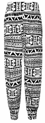 WOMENS HAREM TROUSERS ALI BABA LEGGING LONG PRINTED PANTS BAGGY PLUS SIZE 8-26