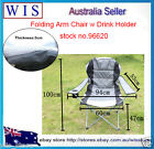 Compact Foldable Chair,Grey,Generals Jumbo Arm Chair with Drink Holder-96620