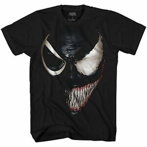 Marvel-Venom-Spider-Man-Avengers-Villain-Comic-Adult-Mens-Graphic-T-shirt-Tee