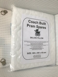 COACH-BUILT-PRAM-DELUXE-SAFETY-PILLOW-Silver-Cross-Kensington-Balmoral-30x36cm
