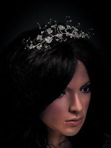 (Nr.0TR114) Haarreif, Tiara, Diadem, Haarschmuck, Hochzeit- Kommunion NEU!