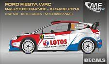 DECALS 1/43 FORD FIESTA WRC #10 - KUBICA - RALLYE DE FRANCE 2014 - MFZ D43355