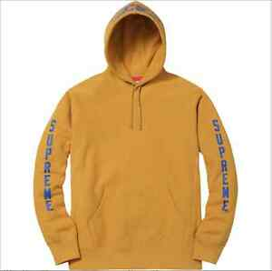 83821d22f073 Image is loading Supreme-X-ANTIHERO-Hooded-Sweatshirt-Mustard-Yellow-Medium