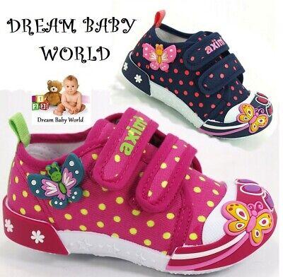 BABY Canvas girls shoes size UK 3 - 7