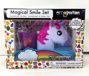 NEW-Emojination-UNICORN-Magical-Smile-TOOTHBRUSH-SET-Oral-Care-Christmas-Gift