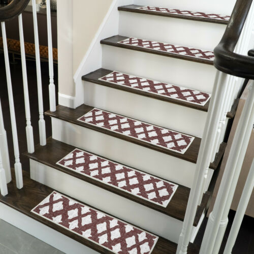 Stair Treads Pack of 4//7//13 Anti-Slip Carpet Strips for Indoor Stairs