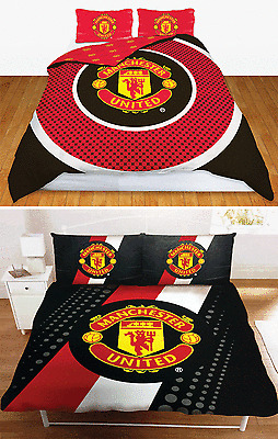 MAN UTD FC MANCHESTER UNITED FOOTBALL CLUB DOUBLE DUVET QUILT COVER BEDDING SETS