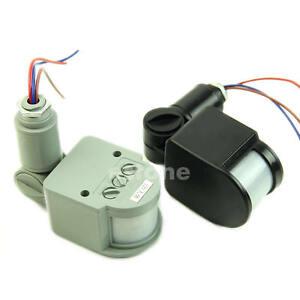Outdoor 12M Security Infrared PIR Motion Sensor Detector Wall LED Light RF 140? eBay