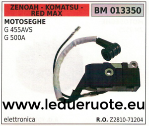 Z281071204 BOBINA ELETTRONICA MOTOSEGA ZENOAH KOMATSU rojo MAX G455AVS 500A