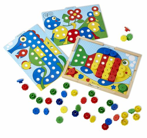 Sorting and Patterns Educational Toy Snap Color Match Sort Kids Learn Wooden New