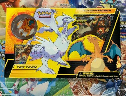 Pokemon RESHIRAM /& CHARIZARD GX BOX Figure Collection Sealed Packs