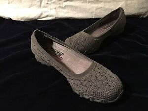 Skechers-Relaxed-Fit-Bikers-Witty-Knit-Slip-On-Shoes-Women-039-s-Size-10-Grey