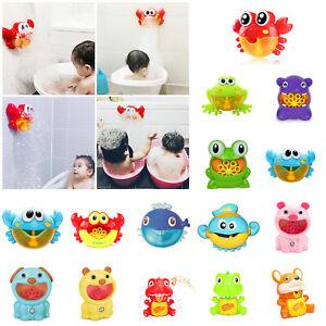 Baby-Seifenblasenmaschine-Krabbe-Badewannenspielzeug-Bubble-Machine-Bubblemaker