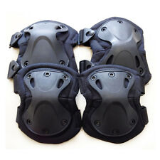 4pc Knee Elbow Protective Pad Skate Sports Gear Protect Tactical Airsoft Combat