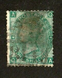 Great-Britain-stamp-48-used-Plate-4-wmk-24-Queen-Victoria-1865-SCV-225