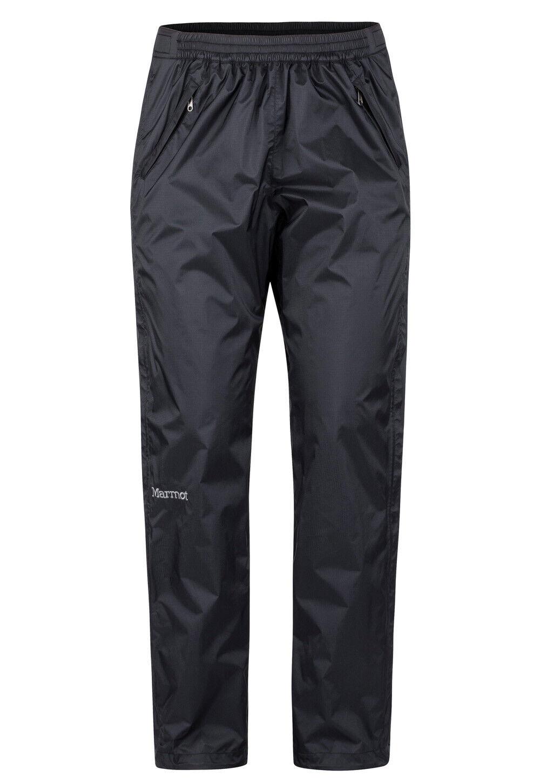 Marmot PRECIP ECO FULLZIP Pant donna Nero leggera pioggia pantaloni per donna