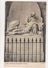 Shelly Monument Chirstchurch Priory [JWS 133] Vintage Postcard 783a