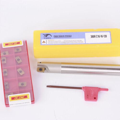 10pcs CK BAP300R-C16-16-120 Indexable milling cutter APMT1135PDER-DP