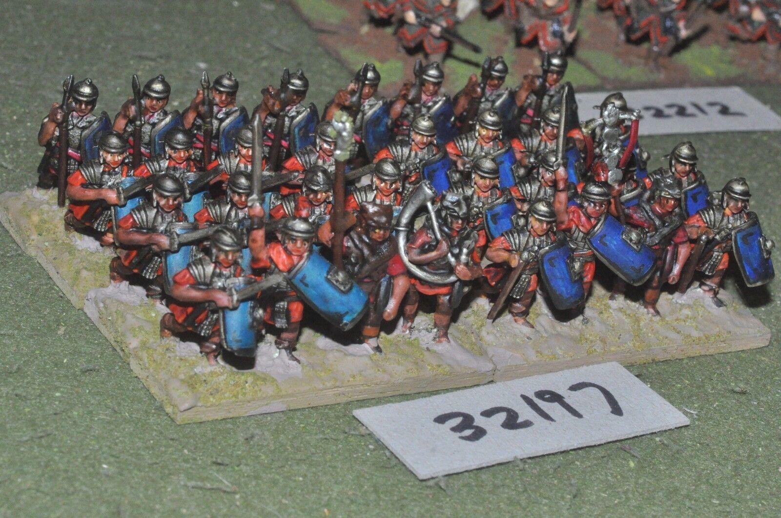 25mm roman era   roman - legionaries 32 figures - inf (32197)