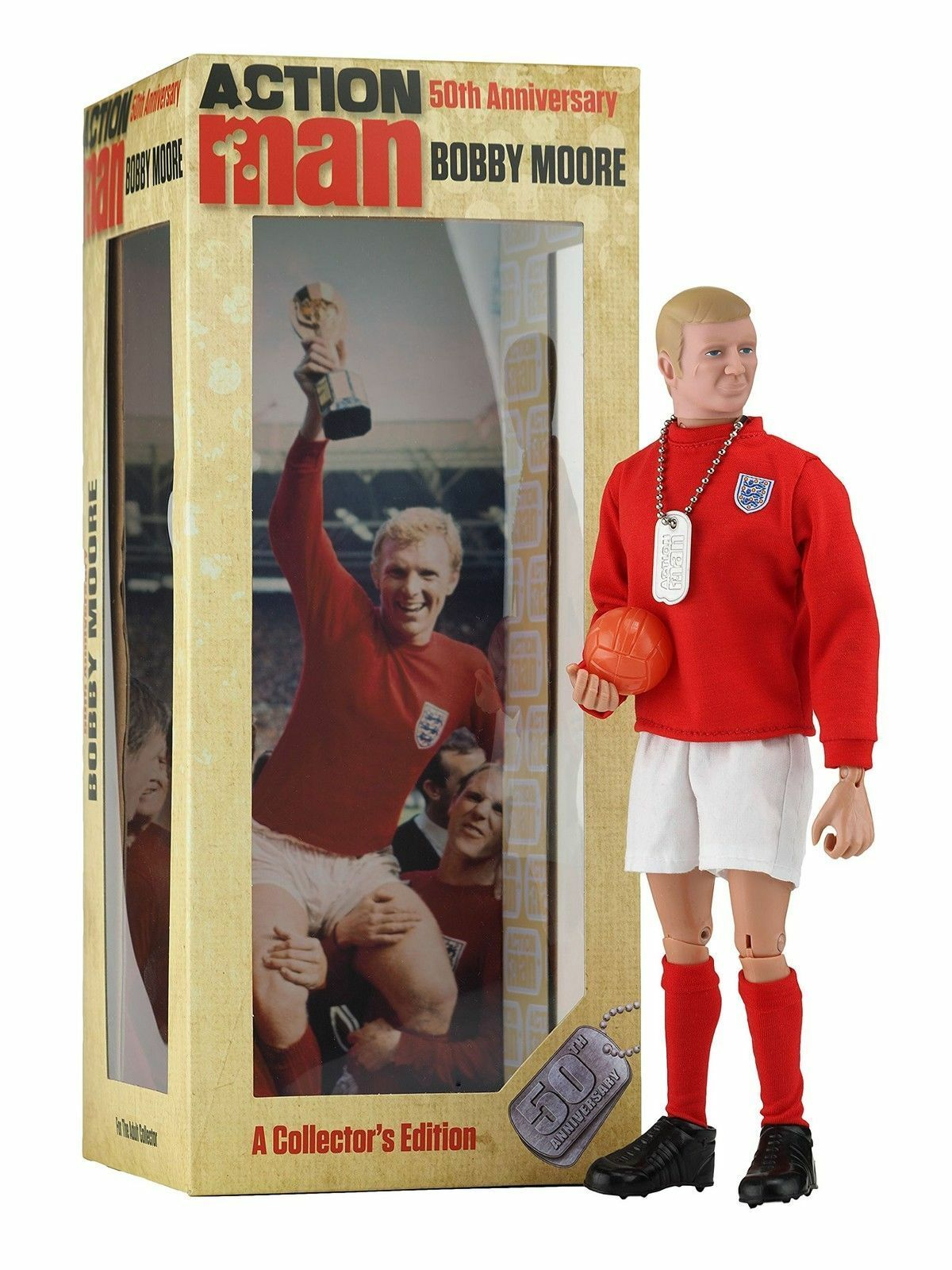 Action Man 50th Anniversary Limited Edition - Bobby Moore - Brand New