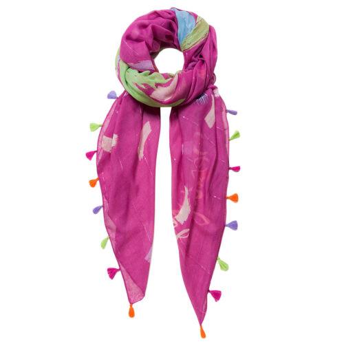 DESIGUAL donna foulard Pashmina Sciarpa Scialle placcaggio falloso brushes 19 SAWF 35//3017