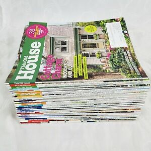 This Old House Magazines Lot Of 32  2013 - 2018 Home DIY Ideas/Make Over/Remodel