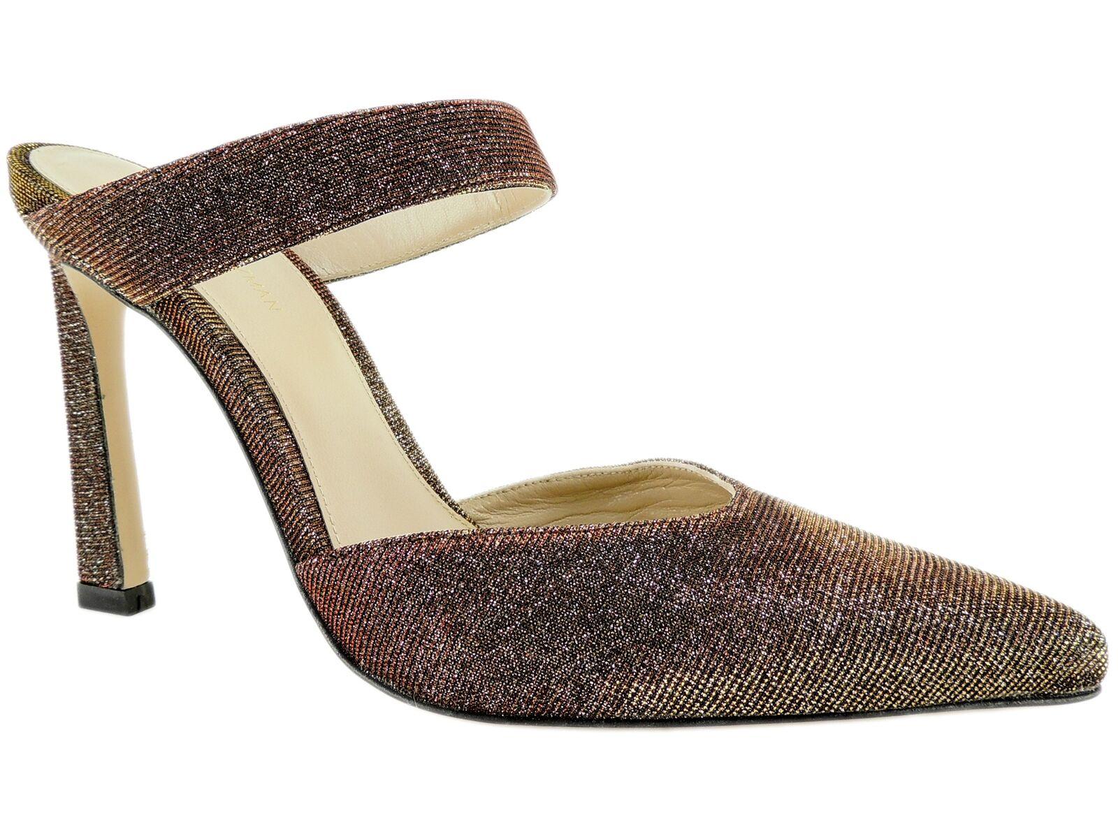Stuart Weitzman Women's Eventually Suede Mules Bronze Nighttime Size 7.5 M