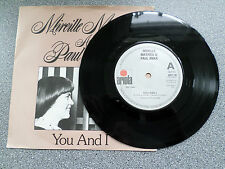 "MIRIELLE MATHIEU & PAUL ANKER - YOU AND I - 7"" VINYL SINGLE"