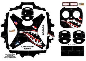 Black Spitfire Shark Teeth Dji Phantom 4 P4 Skin Wrap