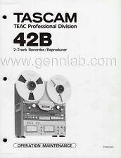 TASCAM 42B Operation /  Service Manual PDF file download