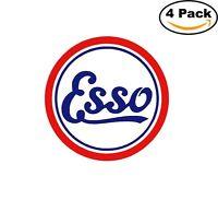 Esso Oil Motor Gas Vintage Round Decal Diecut Sticker 4 Stickers