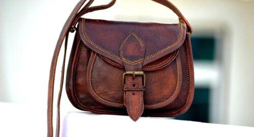 Women Vintage Brown Leather Messenger Cross Body Bag Handmade Purse Satchel HOBO