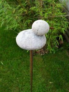 Gartenstecker Beetstecker Rost GartenEnte,110cm,Stein,Gartendeko ...