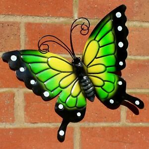BUTTERFLY LARGE GREEN METAL BUTTERFLIES WALL ART OUTDOOR GARDEN DECORATION - Rotherham, United Kingdom - BUTTERFLY LARGE GREEN METAL BUTTERFLIES WALL ART OUTDOOR GARDEN DECORATION - Rotherham, United Kingdom