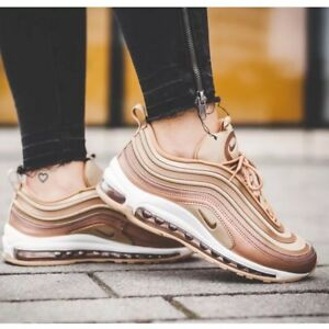 Nike Air Max 97 Women's Running Shoes Light Bone/Deadly