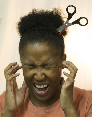 Zombie Costume Accessory Bloody Scissors In Head Headband
