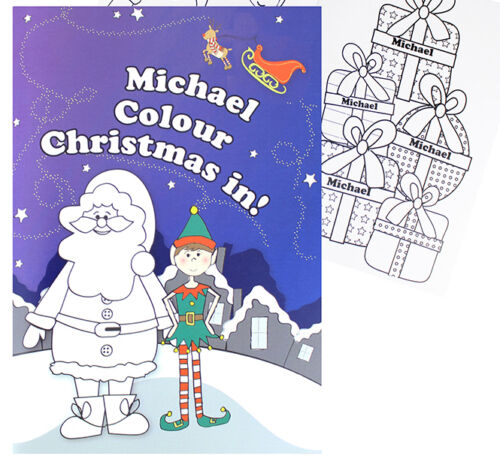 PERSONALISED Childrens COLOURING Book Gift for Boy Girls Kids Birthday Christmas