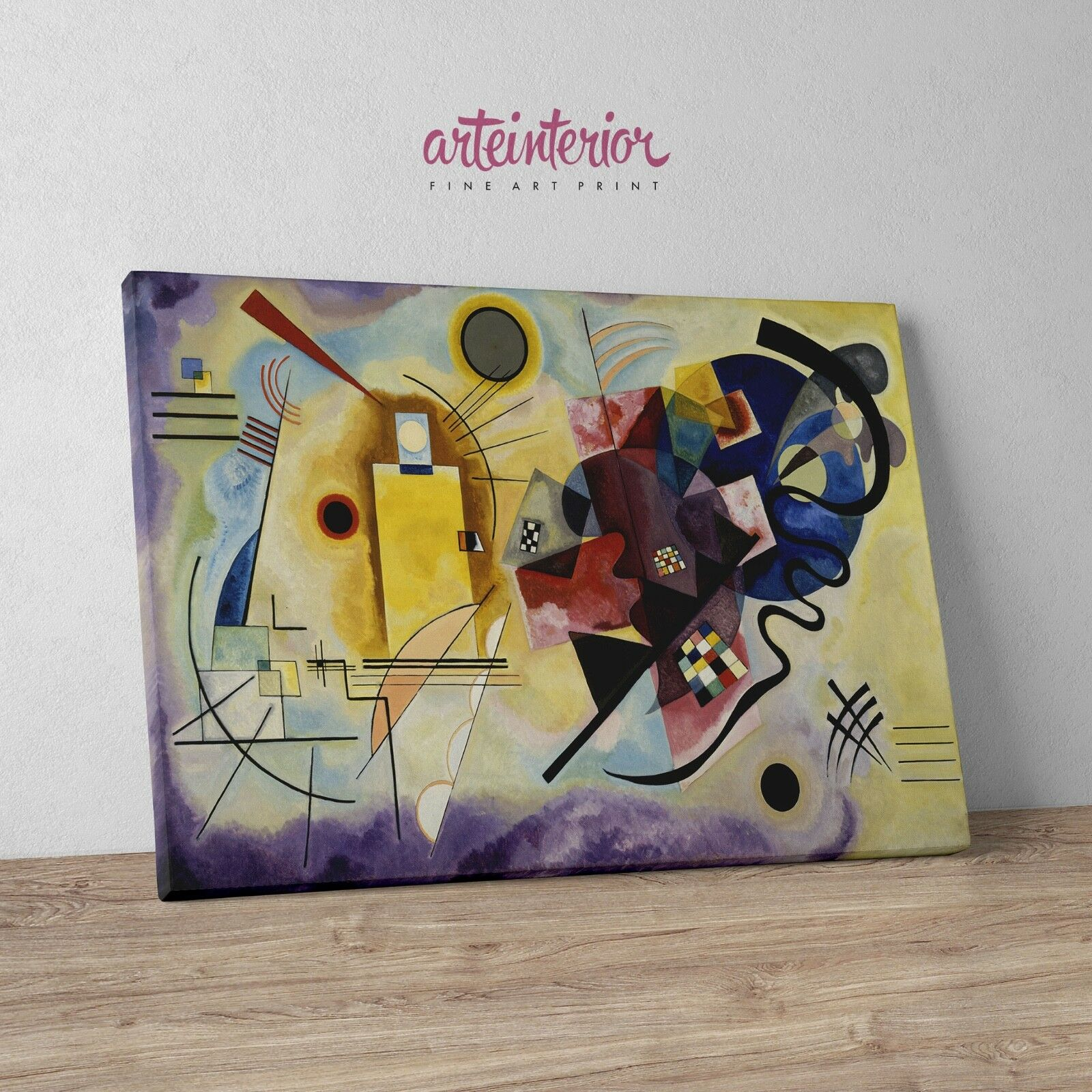 Vasily Kandinsky - Gelb rot Blau - Stampa HR su tela Canvas Quadro Astratto