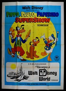 M175 Manifesto 4F Goofy Pluto Donald Supershow Walt Disney Animation