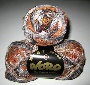100-gram-ball-of-NORO-TAIYO-SOCK-cotton-silk-nylon-wool-knitting-yarn-color-69