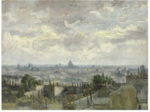FRANCE ART PRINT View of Paris 1886 Vincent van Gogh French City Poster 11x14