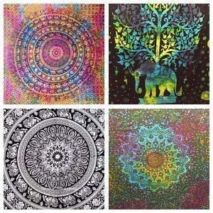 Indiano Arazzo da Parete Mandala Hippie Gitano Copriletto Bohémien Copertura