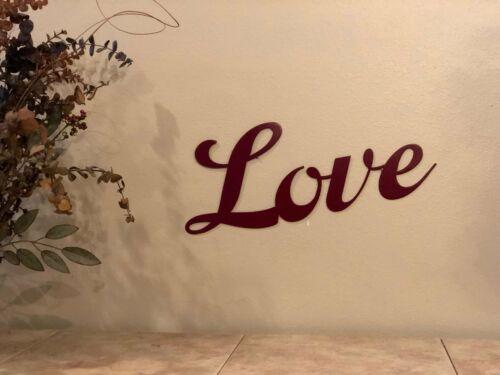 Metal Wall Decor Love Sign