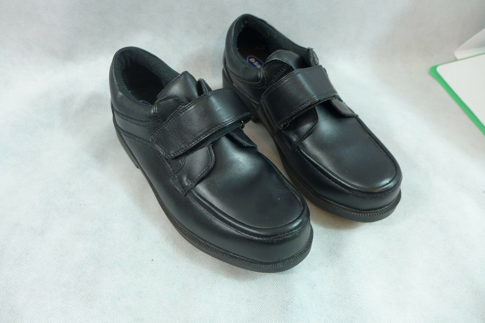 Mens Dr Scholls Shoes Double Air Pillow Insoles Black Leather EZ Strap 9 1/2 D